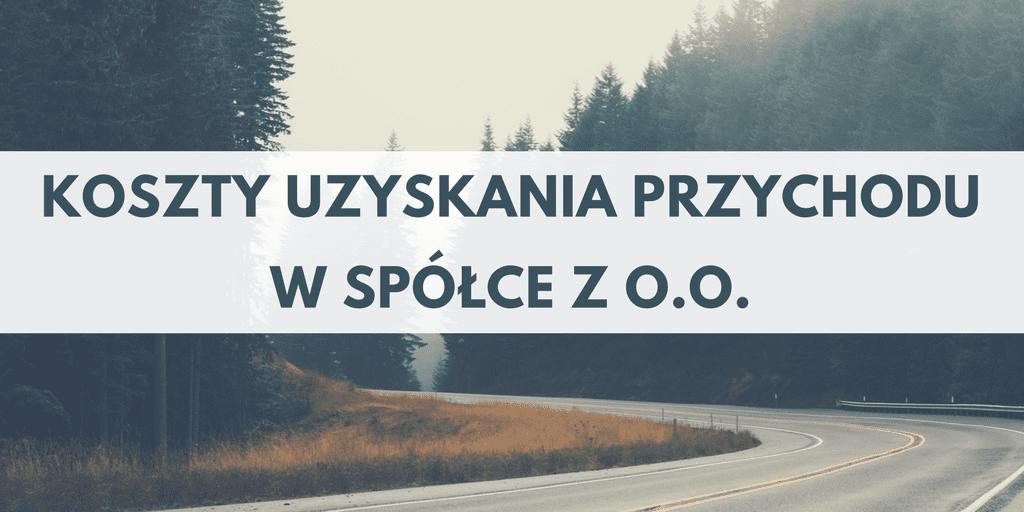 Koszty uzyskania przychodu w spółce z o.o.